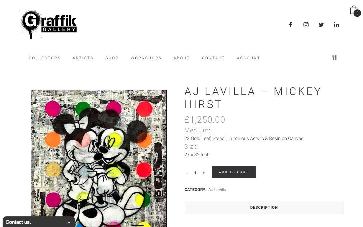 Graffik Gallery eCommerce Website by Growth Gurus